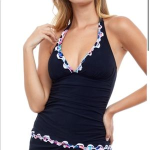 Profile by Gottex Leopard Halter Tankini Top